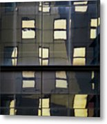 Abstract Window Reflections - Nyc Metal Print