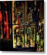 Abstract Window Metal Print