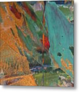Abstract With Gold - Close Up 7 Metal Print