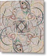 Abstract With Hearts Metal Print