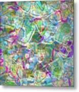 ract with Shapes and Squiggles Metal Print