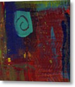 Abstract With Teal Spiral Metal Print