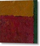 Abstract Xv Green Buffer Metal Print