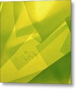 Abstract Yellow And Green With Bottles Metal Print