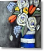 Abstracted Flowers - 3 Metal Print