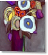 Abstracted Flowers - 4 Metal Print