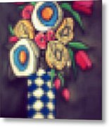 Abstracted Flowers- 5 Metal Print