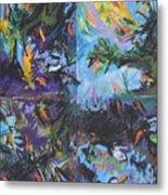 Abstracted Koi Pond Metal Print