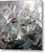 Abstracted Roses Metal Print