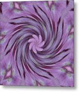 Abstracted Twirl Pink Hydrangea Flowers Metal Print