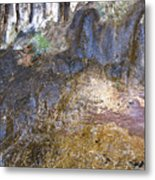 Abstraction In Color And Texture From Wet Rock Metal Print