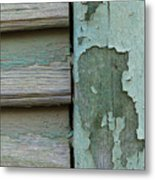 Abstraction In Peeling Paint Close-up Metal Print