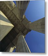 Abstrat View Of Columns At Lincoln Metal Print