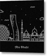 Abu Dhabi Skyline Travel Poster Metal Print