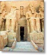 Abu Simbel 2 Metal Print