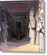 Abu Simbel Temple, 1838 Metal Print