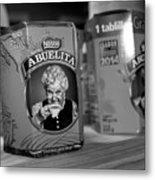 Abuelita Bw  Metal Print