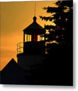Acadia Lighthouse Metal Print by Barry Shaffer