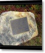 Acadia National Park Centennial Plaque Metal Print