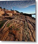 Acadia Rocks Metal Print