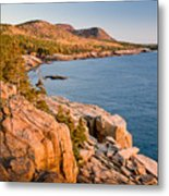 Acadian Cliffs In Autumn 1 Metal Print by Susan Cole Kelly