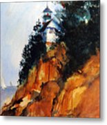 Acadian Lighthouse Metal Print