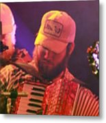 Accordion Player Metal Print