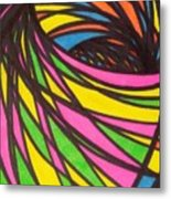 Aceo Abstract Spiral Metal Print