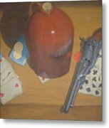 Aces And Eights Or Dead Man's Hand Metal Print