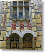 Achitecture Of The Little Castle Within Cesky Krumlov In The Czech Republic Metal Print