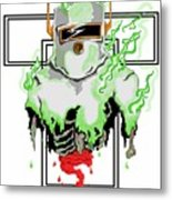 Acid Burn Metal Print