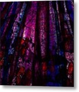 Acid Rain With Red Flowers Metal Print