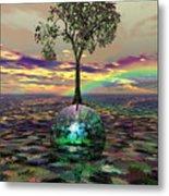 Acid Tree Metal Print