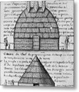 Acolapissa Temple & Cabin Metal Print