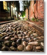Acorn Street Cobblestone Detail Boston Ma Metal Print