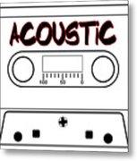 Acoustic Music Tape Cassette Metal Print