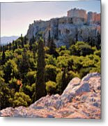 Acropolis In The Morning Light Metal Print