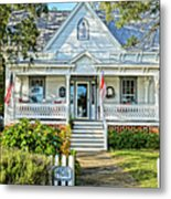 Across From The Harbor Metal Print