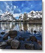 Across Jenny Lake Metal Print