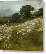 Across The Fields Metal Print by John Mallord Bromley