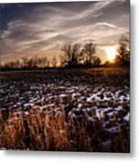 Across The Frozen Fields  Metal Print