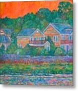 Across The Marsh At Pawleys Island       Metal Print