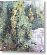 Across The Ravine Metal Print