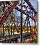 Across The Water 6th Street Rr Bridge Augusta Georgia Art Metal Print