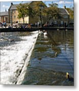 Across The Weir At Bakewell Metal Print