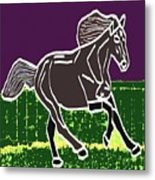 Acrylic Painted Horse On Display Fineart By Navinjoshi At Fineartamerica.com For The Fans Of Horses Metal Print