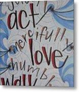 Act Love Walk Metal Print