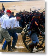 Action At The Front Metal Print