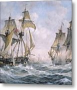 Action Between U.s. Sloop-of-war 'wasp' And H.m. Brig-of-war 'frolic' Metal Print