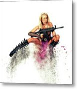 Action Girl Metal Print